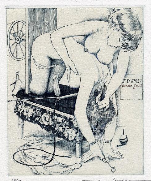 image Erotic ex libris alphonse inoue