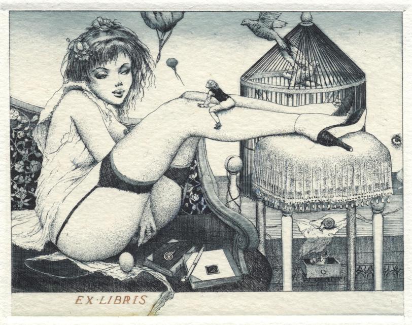 Erotic ex libris alphonse inoue 3