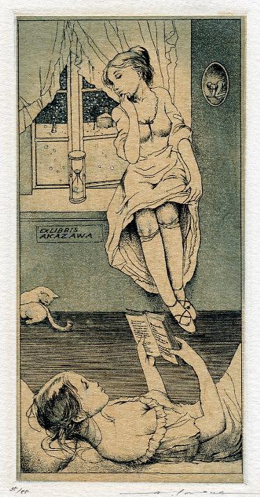 Erotic ex libris alphonse inoue 10